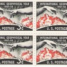 US Scott 1107 - Block of 4 - Geophysical Year - 3 cent - Mint Never Hinged