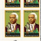 US Scott 1804 - Zip Block of 4 - Benjamin Banneker 15 cent - Mint Never Hinged