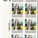 US Scott 1799 - Zip Block of 8 - Christmas 1979 Virgin and Child 15 cent - Mint Never Hinged