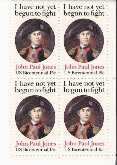 US Scott 1789 - Block of 4 - John Paul Jones 15 cent - Mint Never Hinged