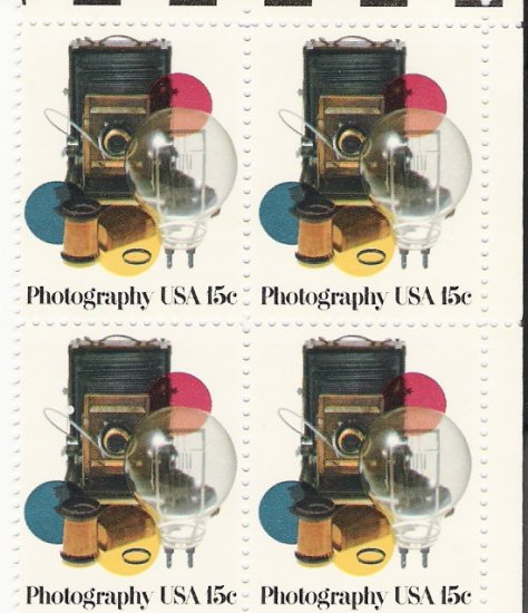 US Scott 1758 - Block of 4 - Photography 15 cent - Mint Never Hinged
