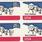 US Scott C88 - Block of 4 - Mt Rushmore 26 cent - Mint Never Hinged