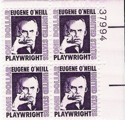US Scott 1294 - Plate Block of 4 - Eugene O'Neill - Mint Never Hinged - $1