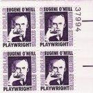 US Scott 1294 - Plate Block of 4 - Eugene O'Neill - Mint Never Hinged - $1