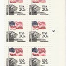 US Scott 1894 - Plated Block of 6 - Flag over Court - Mint Never Hinged - 20 cent