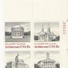 US Scott 1782a (1779 1780 1781 1782) - Plate Block of 4 - American Architecture - Mint N H