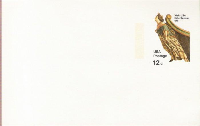 1974, US Scott UX67, 12-cent Post Card, Ship's Figurehead, Mint
