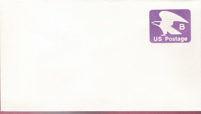 1981, US Scott U592, 18-cent Small Envelope 3.625 x 6.5 inch, B Postage, Mint