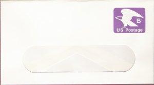 1981, US Scott U592, 18-cent Large Window Envelope 4.125 x 9.5 inch, B Postage, Mint