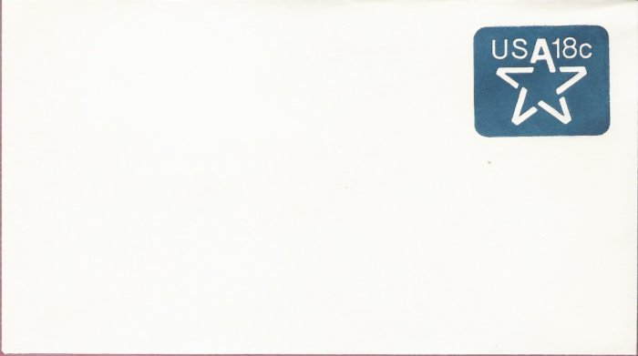 1981, US Scott U593, 18-cent Small Envelope 3.625 x 6.5 inch, Star, Mint