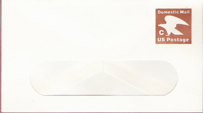 1981, US Scott U594, 20-cent Small Window Envelope 3.625 x 6.5 inch, C Postage, Mint