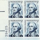 US Scott 1283B - Plate Block of 4 - George Washington LL Plate #39425 - Mint Never Hinged - 5 cent