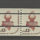 US Scott 1816a Pre Canceled - Strip of 4 - Torch - 12 cent - Mint Never Hinged