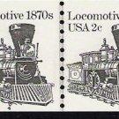 US Scott 1897A - Line Pair - Locomotive - Plate No 4 - 2 cent - Mint Never Hinged