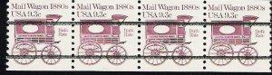 US Scott 1903a Precanceled - Strip of 4 - Mail Wagon 1880s - 9.3 cent - Mint Never Hinged