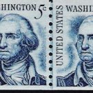 US Scott 1304 - Coil Line Pair - George Wasington - 5 cent - Mint Never Hinged