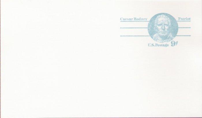 1976, US Scott UX70, 9-cent Post Card, Caesar Rodney, Mint