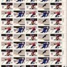 US Scott 1795A thru 1798A - RARE Bullseye perf Sheet of 50 - 1980 Winter Olympics-Mint Never Hinged
