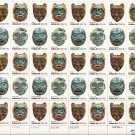 US Scott 1834 1835 1836 1837 - Sheet of 40 - American Folk Art - Mint Never Hinged