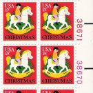 US Scott 1769 - Plate Block of 12 - Christmas 15 cent - Mint Never Hinged