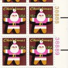 US Scott 1800 - Plate Block of 12 (right) - Christmas 1979 Santa Claus 15 cent