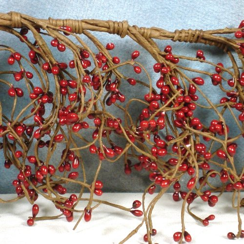4 Ft  Country Red Pip Berry Garland