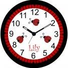 """9"""" Personalized Ladybug Clock~Ladybugs"""