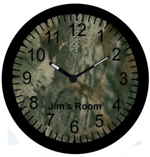 """9"""" Personalized Camo Camouflage Clock~Real Tree"""