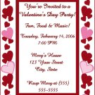 20 Personalized Heart Valentine's Day Party Invitations~Birthday or Bridal Shower