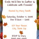 20 Fall Leaves Party Invitations ~ Birthday