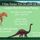 20 Personalized Dinosaur Birthday Party Invitations