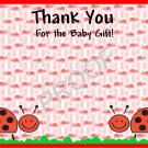 20 Personalized LadyBug Thank You Cards-Birthday or Baby