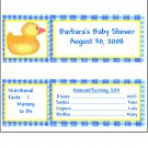 20 Personalized Rubber Ducky Candy Bar Wrappers