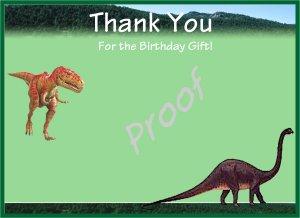 20 Dinosaur Thank You Cards