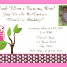 20 Pink Owl Birthday Party Invitations
