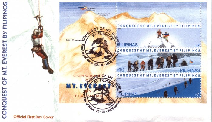 Philippines Conquest of Mt. Everest by Filipinos S/S FDC