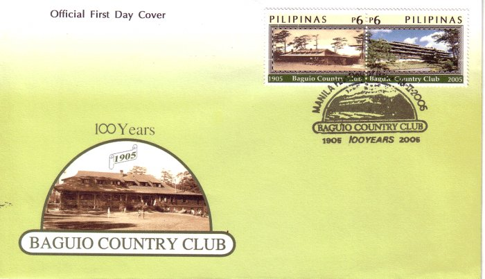 Philippines Baguio Country Club Centennary 2v FDC