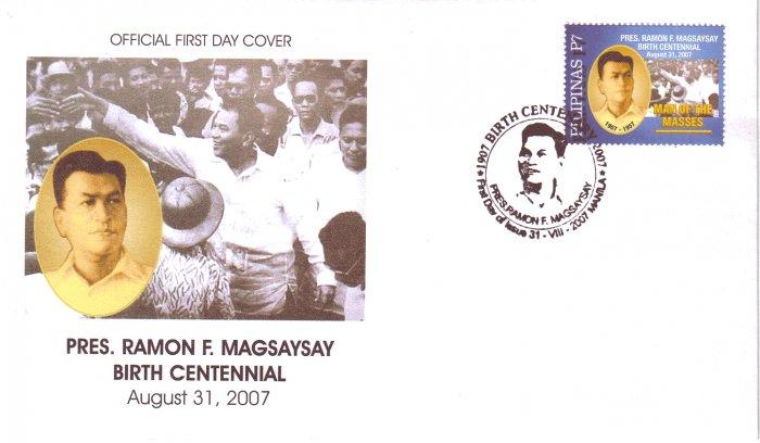 Philippines Pres. Ramon Magsaysay Birth Centennial FDC