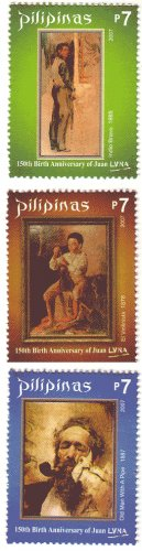 Philippines 150th Birth Anniversary of Juan Luna 3v