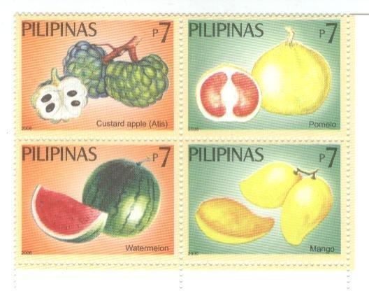 Philippines Fruits Block of 4