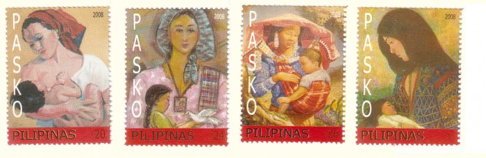 Philippine Christmas 2008 Madonna and Child 4v