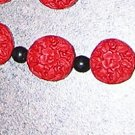 A2-Red and Black Oriental Beaded Bracelet