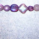 A29- Bracelet Mixed Chech Glass Pinks/Purples