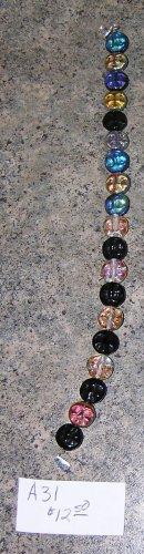 A31 - Bracelet - Czech Black and Blue Irridescent Beads