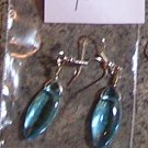 E3 -Marquis Aqua Glass Beaded Earrings