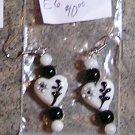 E6- Handblown Glass Heart Beaded Earrings