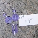 E17- Earrings - Lavender Dangle Drops