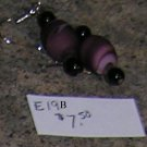 E19B- Earrings - Round glass swirl beaded drops