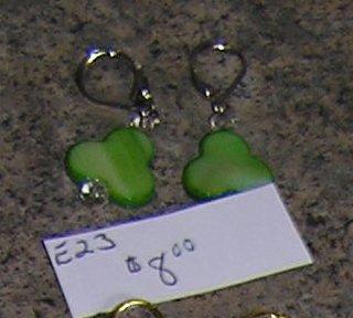 E23 - Earrings - Lucky Charm Clover Earrings