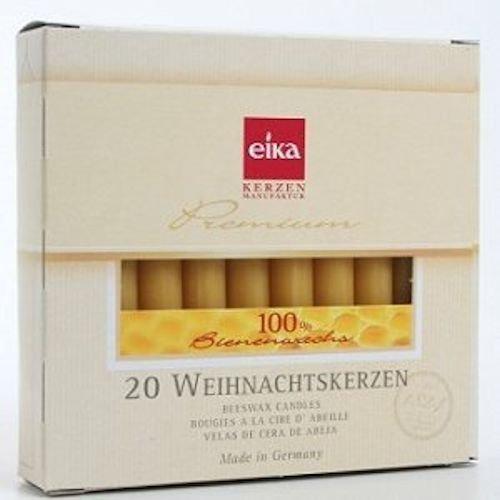 EIKA Kerzen 100% beeswax candles - chime candles 4 inch x half inch diameter
